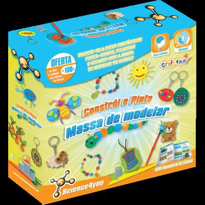 Brinquedo Science 4 You Constrói e Pinta - Massa de Modelar