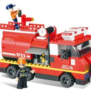 Brinquedo de construção Fire Alarm Camião Bombeiros