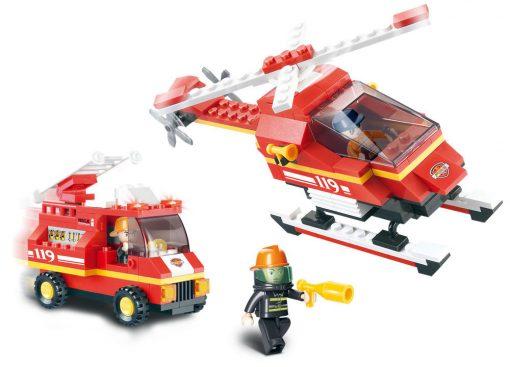 Brinquedo de construção Fire Alarm Deptartamento Bombeiros Aeroporto