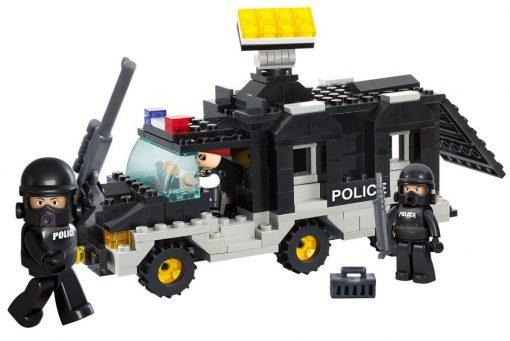 Brinquedo de construção Riot Police Carro Intervenção Polícia
