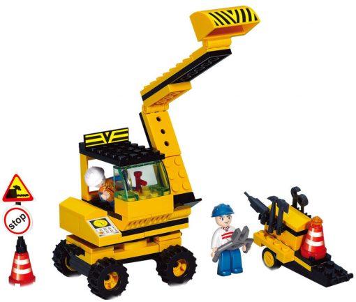 Brinquedo de construção Town Escavadora com Acessórios