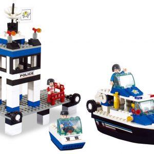 Brinquedo de construção Town Polícia Marítima