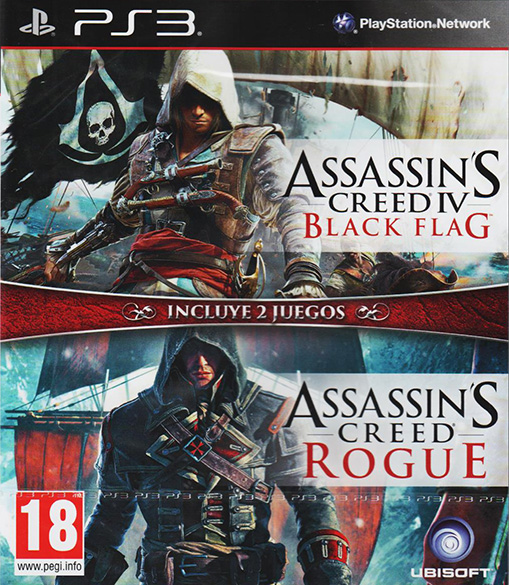 Pack Assassin's Creed IV: Black Flag + Assassin's Creed: Rogue PS3