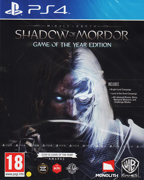 Middle Earth: Shadow of Mordor - Game of the Year Edition PS4