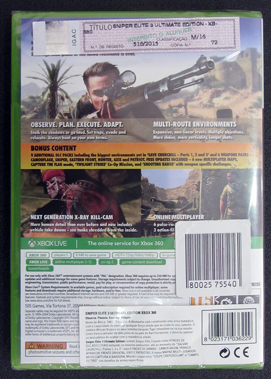 Sniper Elite 3 - Ultimate Edition X360