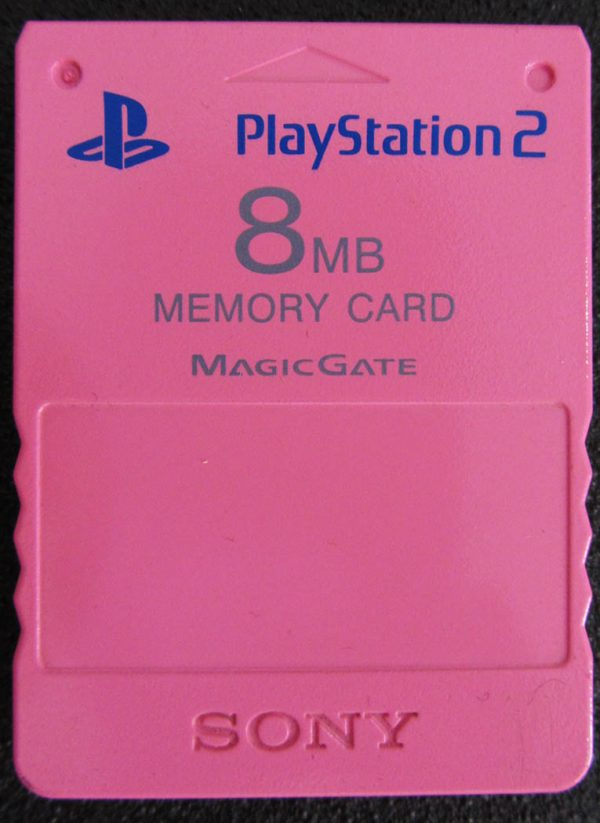 Acessório Usado Memory Card 8MB Rosa Playstation 2