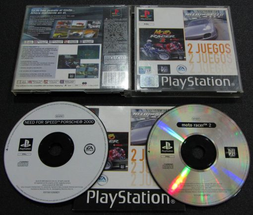 Need for Speed: Porsche 2000 + Moto Racer 2 Pack PS1