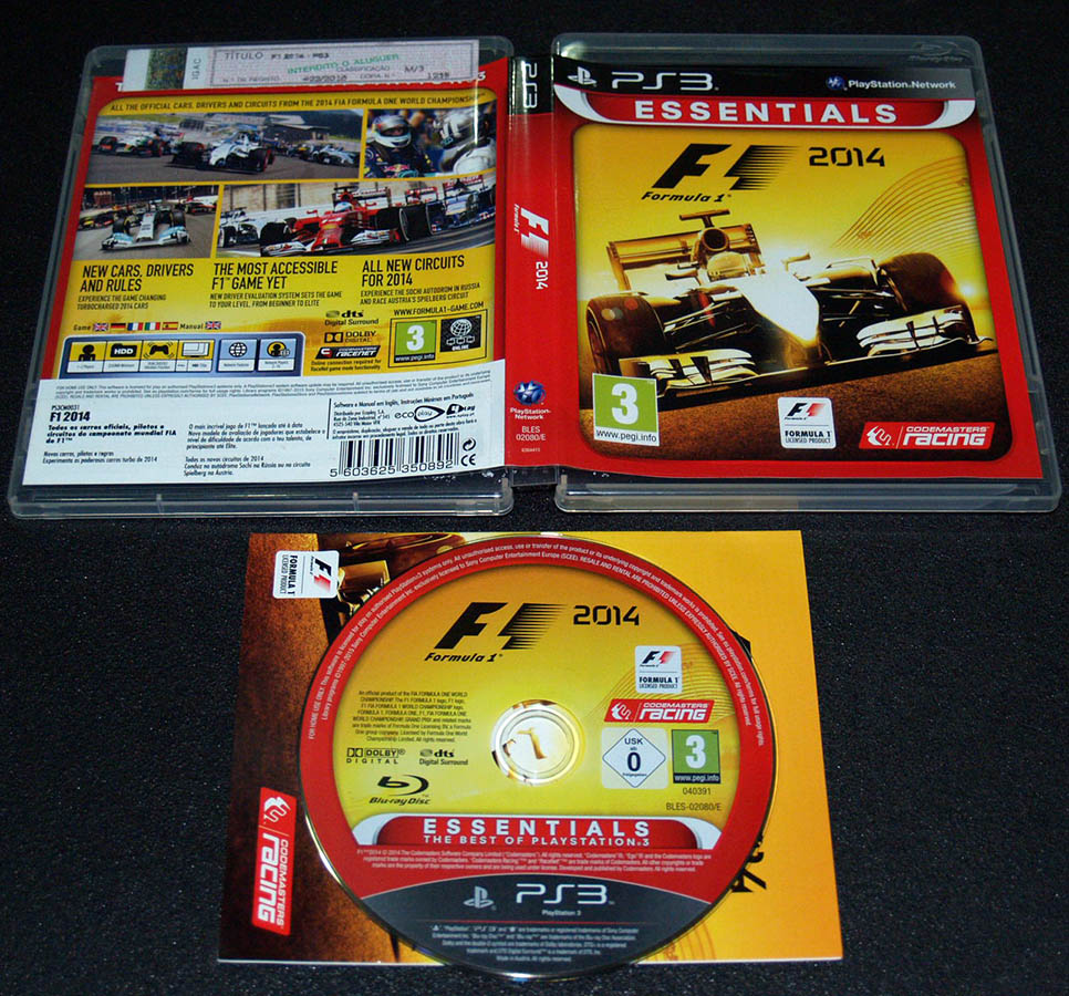 F1 2014 PS3 Essentials (Seminovo)