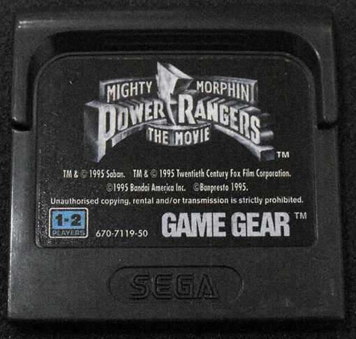 Power Rangers: The Movie GAME GEAR