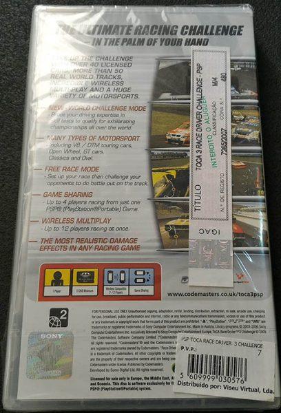 Toca Race Driver 3 Challenge PSP
