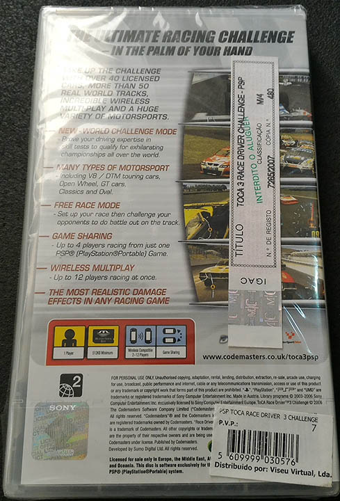 Toca Race Driver 3 Challenge PSP