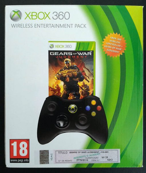 Acessório Usado Xbox 360 Comando Xbox 360 + Gears of War: Judgment Pack