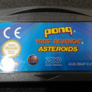 Pong / Yars Revenge / Asteroids GAME BOY ADVANCE