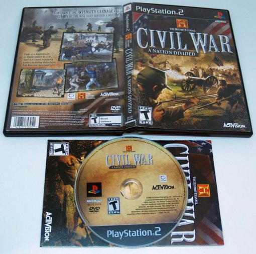 The History Channel: Civil War - A Nation Divided PS2 NTSC-US