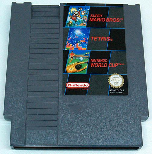 Super Mario Bros + Tetris + Nintendo World Cup CART NES