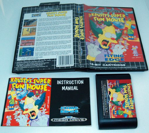 Krusty's Super Fun House MEGA DRIVE
