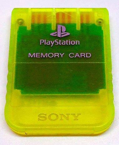 AcessórioUsado Playstation Memory Card - Lemon Yellow