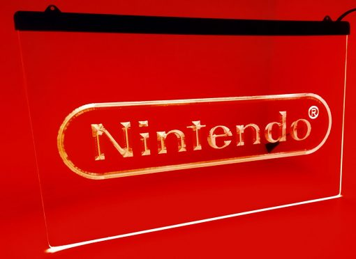 Nintendo - Placa Decorativa LED Iluminada MERCH