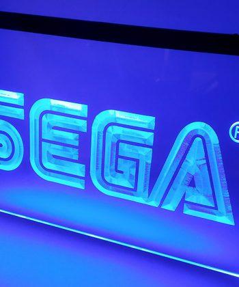 SEGA - Placa Decorativa LED Iluminada MERCH