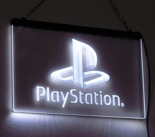 PlayStation - Placa Decorativa LED Iluminada MERCH