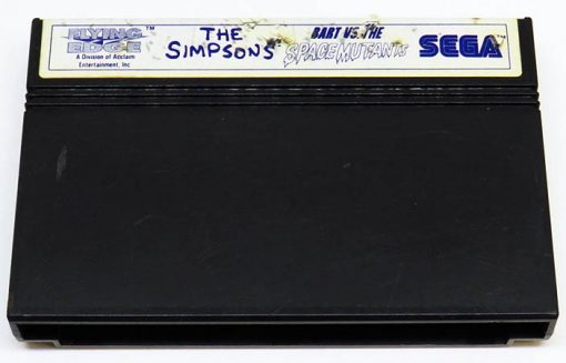The Simpsons: Bart vs The Space Mutants CART MASTER SYSTEM