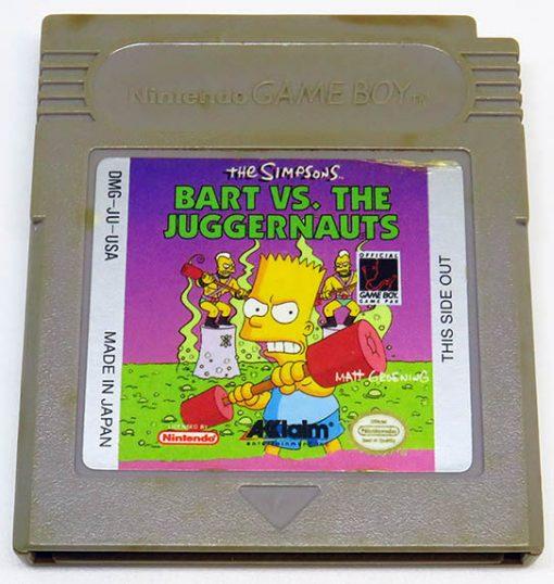 The Simpsons: Bart vs The Juggernauts US CART GAME BOY