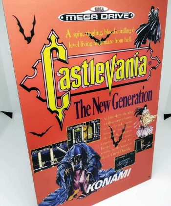 Castlevania: The New Generation MD - Placa Metálica Decorativa