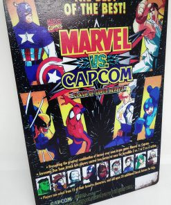 Placa Metálica Decorativa Marvel vs Capcom