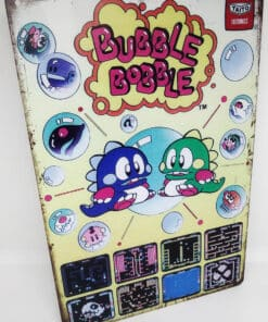 Placa Metálica Decorativa Bubble Bobble
