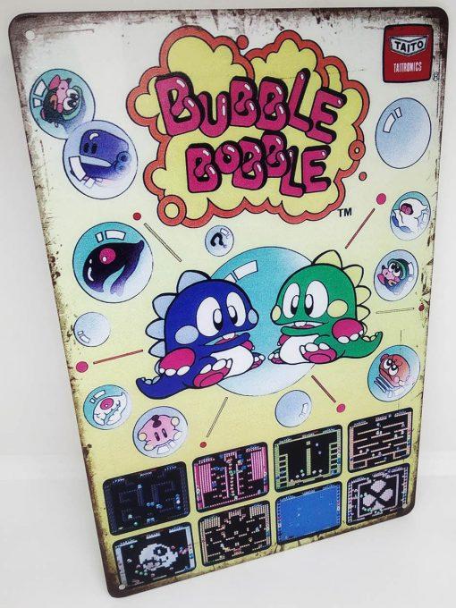 Placa Metálica Decorativa Bubble Bobble