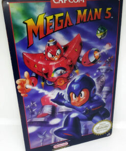 Placa Metálica Decorativa Mega Man 5