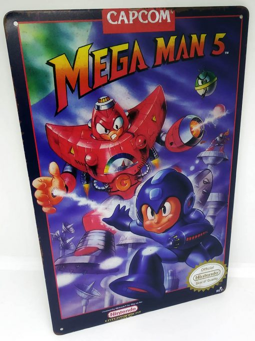 Placa Metálica Decorativa Mega Man 5