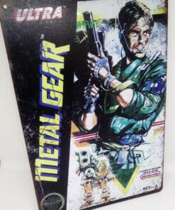 Placa Metálica Decorativa Metal Gear