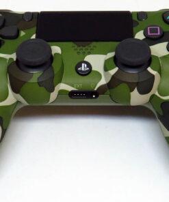 Acessório Usado PS4 Dual Shock 4 Green Camo