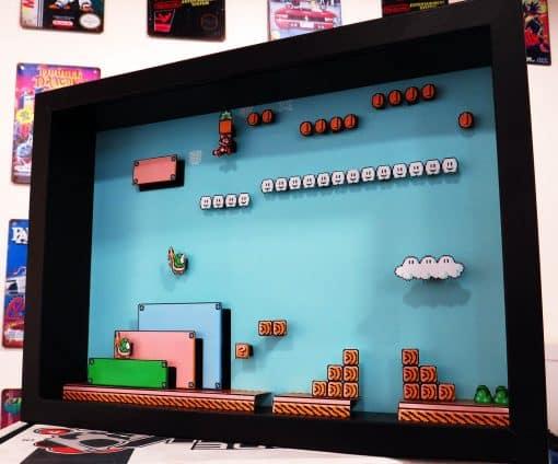PixelBox - Super Mario Bros. 3 - NES-Nintendo shadow box
